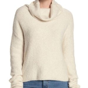 Free People Stormy Cowl Neck Sweater Size large